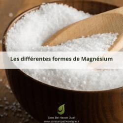 magnésium les différentes formes