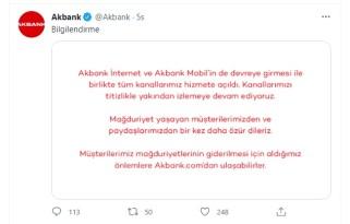 Akbank: Tüm kanallarımız devreye girdi