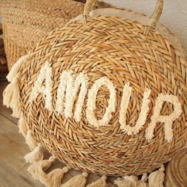 Maroquinerie sac panier AMOUR été plage mode sanbaya.fr