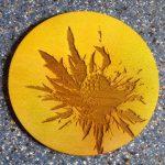 Airbrush Coaster- Thistle