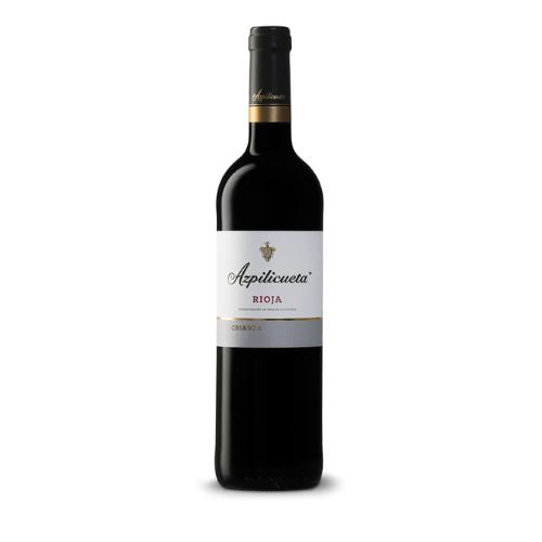 Botella de vino crianza azpilicueta