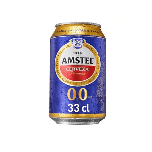 lata de cerveza 0,0 amstel