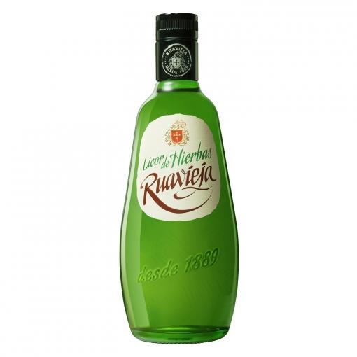 Botella de licor hierbas