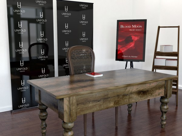 Book Launch Signing Mock-Up by Sanchi477.com