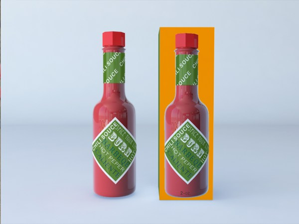 Hot Sauce Mock-Up by Sanchi477.com