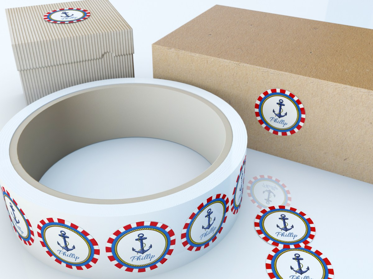 Round Circular Labels and Stickers Mock-Up by Sanchi477.com