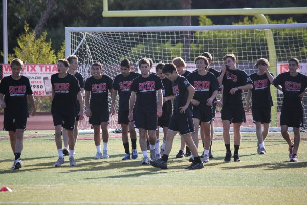The San Clemente boys soccer team can win the South Coast League title with a win or a draw against Mission Viejo on February 2. Photo by Steve Breazeale