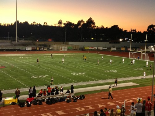 The San Clemente girls soccer team defeated Mission Viejo 1-0 on February 4. Photo by Steve Breazeale