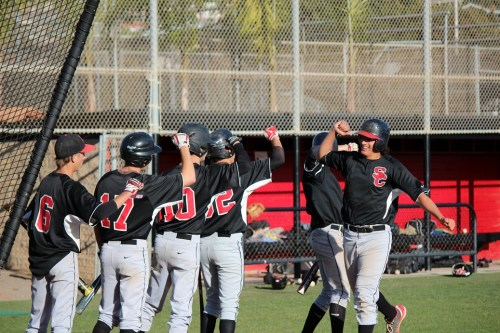 The San Clemente baseball team defeated San Juan Hills 3-1 on March 20. Photo by Brian Park