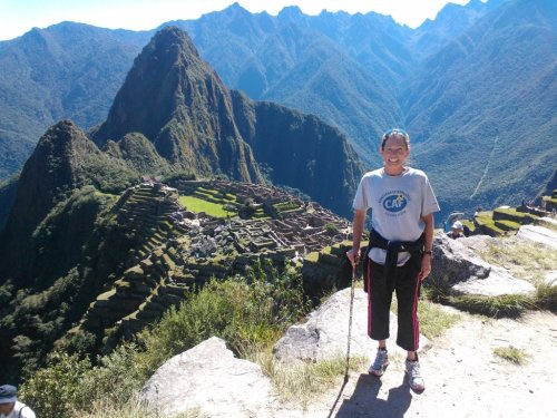 San Clemente's Beth Sanden recently completed the Lima Marathon and scaled the 4,000-foot trail up to Machu Picchu in Peru. Sanden is attempting to become the first survivor of a spinal cord injury to complete a marathon on all seven continents. Courtesy photo