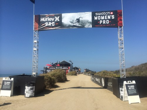 Hurley Pro and Swatch Women's Pro contest site at San Onofre State Park, Lower Trestles. Photo: Andrea Swayne