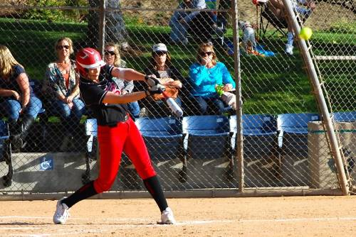 San Clemente senior Kelsey Horton hit for the cycle against Dana Hills on March 26. Photo: Catrina Crawford