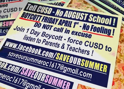 The background photo of the Save Our Summer organization's Facebook page. Photo: Courtesy