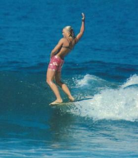 From 1963 to 1971, Joyce Hoffman dominated women's surfing across the globe. Photo: Courtesy