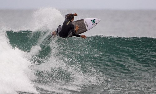 Cole Houshmand of San Clemente surfed his way to a Surfing America Prime Boys U16 season champion title at event No. 6, May 7 and 8 at Camp Pendleton. Photo: Surfing America/Jack McDaniel