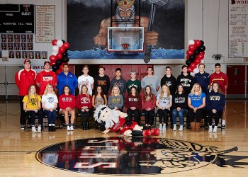 San Clemente student-athletes took part in a signing day ceremony in 2016. Photo: Courtesy