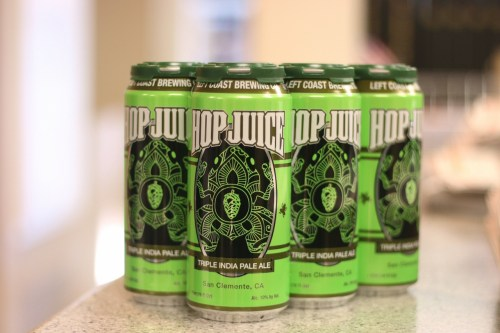 Left Coast Brewing Co. recently released Hop Juice, a triple IPA. Photo: Eric Heinz