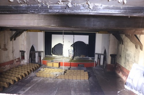 The Miramar Theater has sat dormant for 25 years. Now, the owners of the theater are making strides to rehabilitate the facility and the old bowling alley. Photo: Eric Heinz