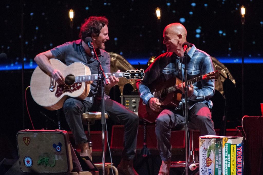 Eddie Vedder and Kelly Slater. Photo: Stephanie Cabral