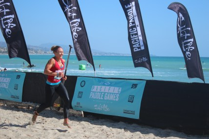 Annabel Anderson won the women's pro combined title at the Pacific Paddle Games. Photo: Daniel Ritz