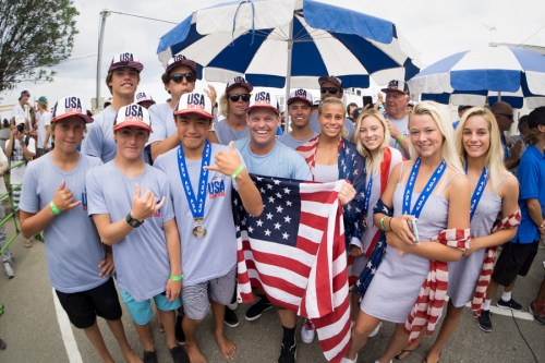 Team USA won gold at the VISSLA ISA World Junior Surfing Championship in Hyuga, Japan on Oct. 1. Photo: Courtesy of ISA / Sean Evans
