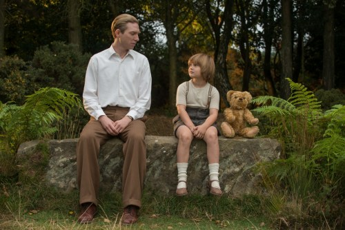 Domhnall Gleeson and Will Tilston in the film GOODBYE CHRISTOPHER ROBIN. Photo by David Appleby. © 2017 Twentieth Century Fox Film Corporation All Rights Reserved
