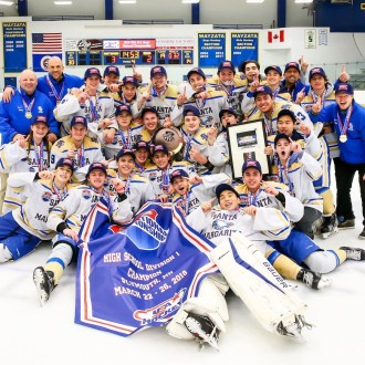 Santa Margarita won the USA Hockey High School Division 1 national championship on Monday, March 26. Photo: Courtesy