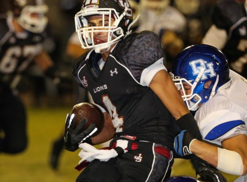 JSerra senior Dante Pettis leads the Lions receiving corps with eight touchdowns. Photo by Tony Tribolet