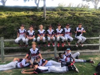 San Clemente Little League American advance to the finals of the District 68 10-and-under division tournament. Photo: Courtesy
