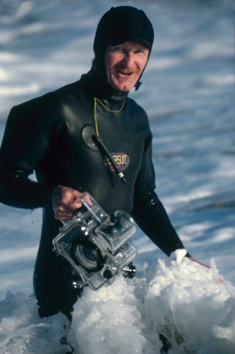 Larry Moore readies himself for another photo shoot. Photo: Moore Family Archive.