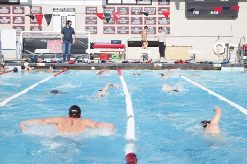 The San Clemente boys and girls swim teams each won their first league titles in more than 14 years last season in the first-ever aquatics sweep for the school. Photo: Zach Cavanagh