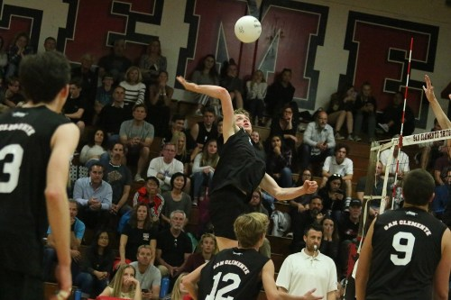 The talented San Clemente boys volleyball team is primed and ready for a shot at the league title and a deeper playoff run than a season ago. Photo: Eric Heinz