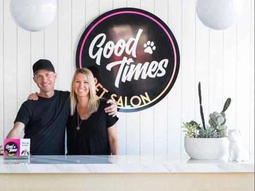 Brian McAtee and Kelly Conrad of Good Times Pet Salon. Photo: Zara Flores