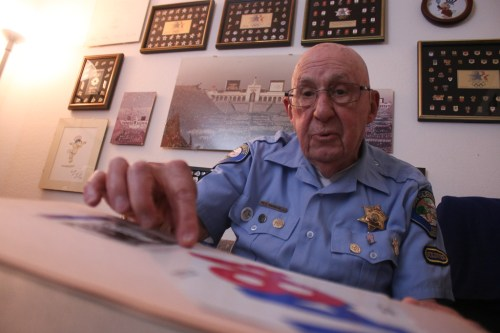 Neil Barbanell retires from a lifetime of volunteer work that spans more than 80 years. This May, he relinquishes his duties as a Retired Senior Volunteer Patrol member of 28 years, having dedicated 11,500 hours to assisting San Clemente's Police Services. Photo by: Eric Heinz