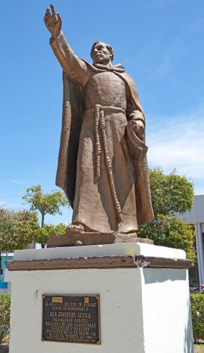 This monument in Tepic, Nayarit, Mexico, honors Saint Junipero Serra as a 'tireless apostle and missionary.' Photo: Fred Swegles