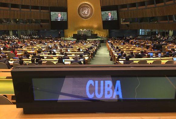 Participa Cuba en el 75 período de sesiones de la Asamblea General de la ONU