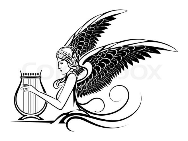 12310120-winged-greek-muse