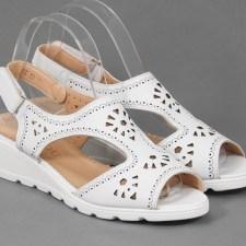 Sandale dama albe Fauda