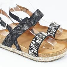 Sandale dama negre Verga