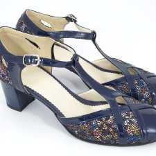 Sandale dama piele bleumarin Caliope2