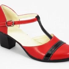 Sandale dama piele rosii Lona