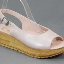 Sandale dama piele roz perlat Janette
