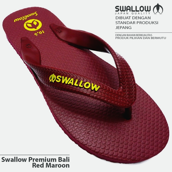 Sandal Swallow Premium Bali Red