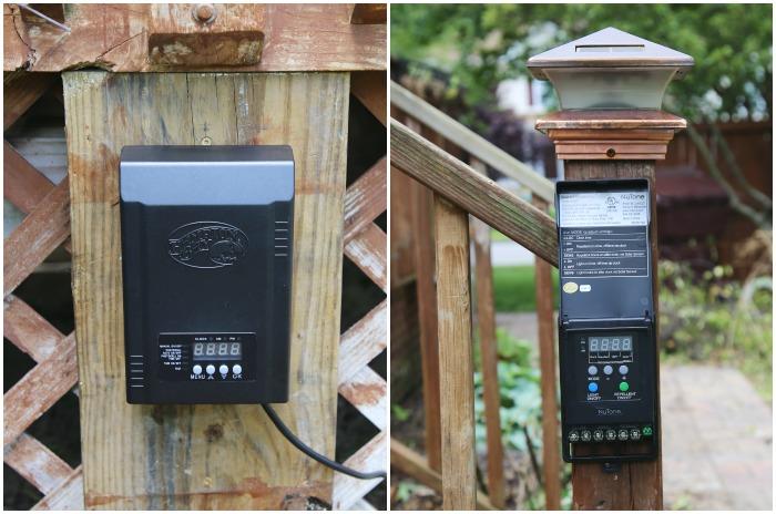 mosquito repellent outdoor lighting system