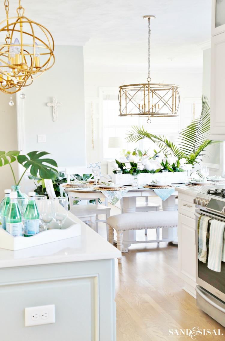 Coastal Kitchen Decorating Ideas for Spring - Sand and SIsal on Kitchen Decoration Ideas  id=47127