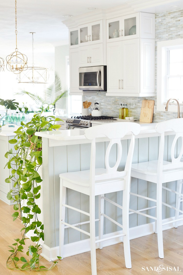 Coastal Kitchen Decorating Ideas for Spring - Sand and SIsal on Kitchen Decoration Ideas  id=14233