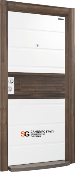 Италиански стил SM05 White Matt PVC / Natural Walnut