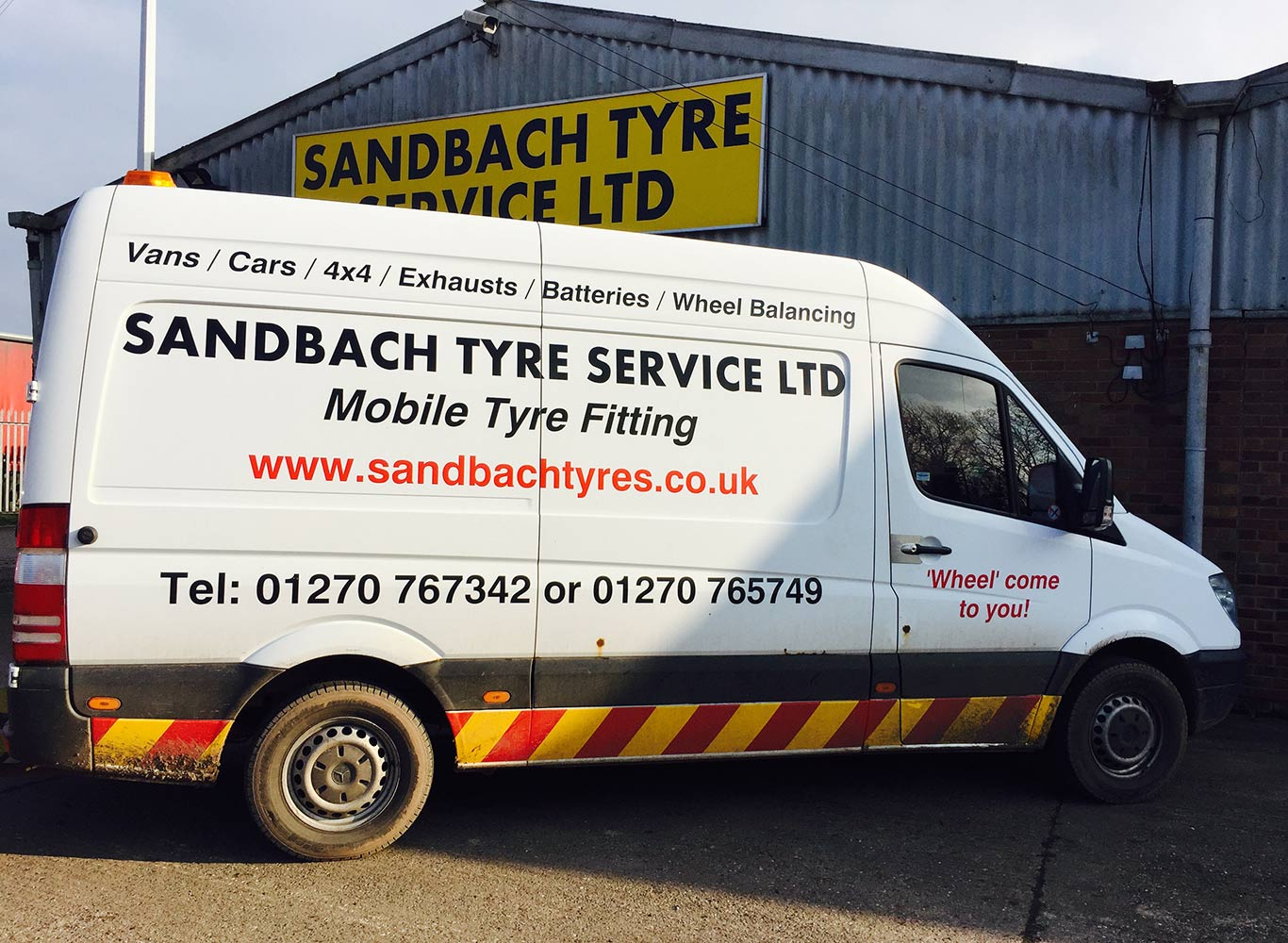 Sandbach Tyres - Mobile Tyre Fitting