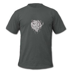 Surreal floating creature design available at Spreadshirt