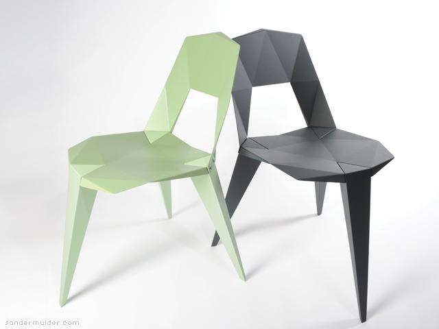 Pythagoras 3 legged chair by Sander Mulder